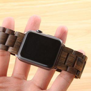 Apple Watch Elegáns Óraszíj 3 Féle Fából