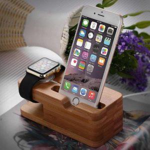 Apple Watch és iPhone Dokkoló Fából
